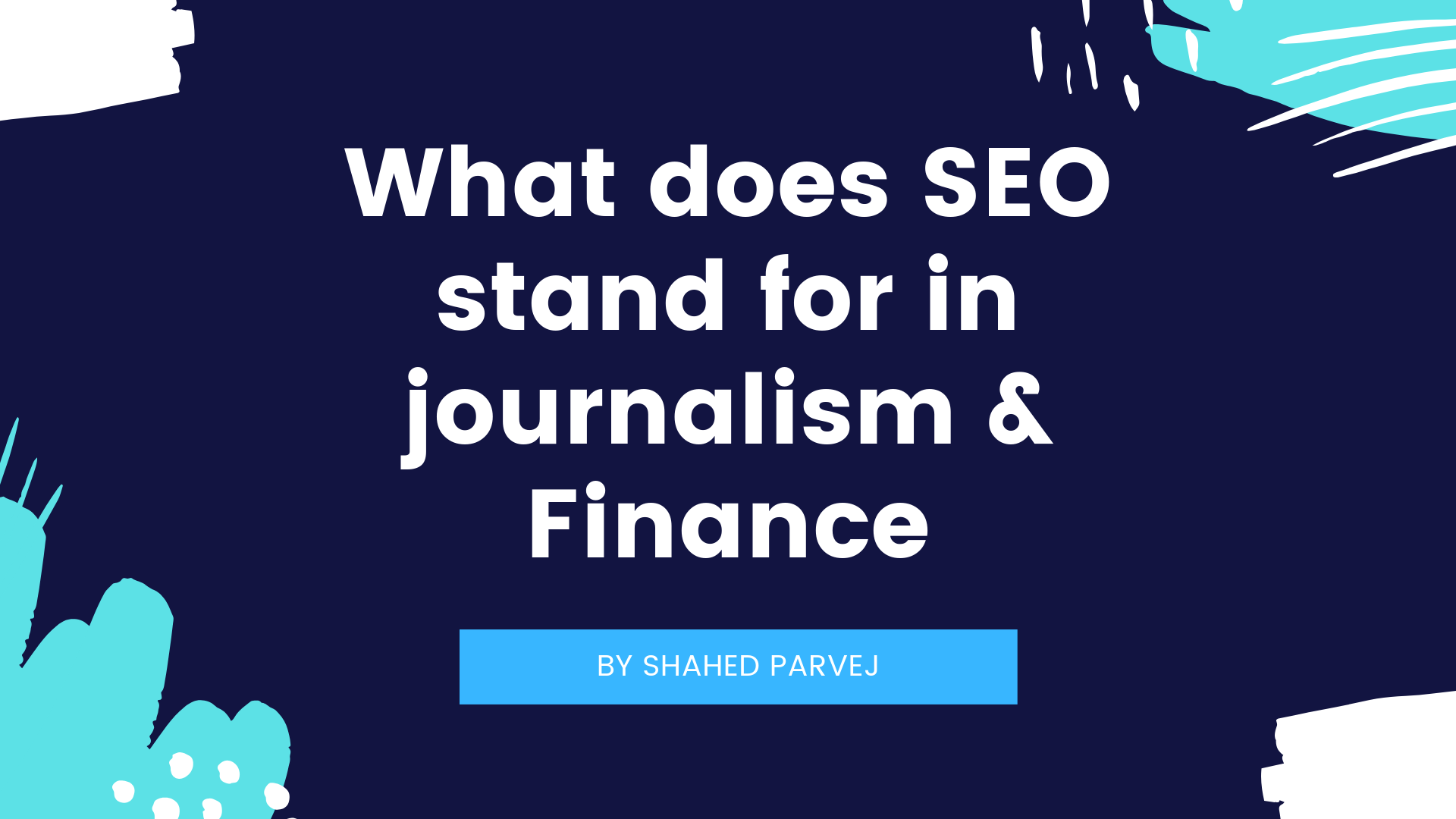 What does SEO stand for in journalism